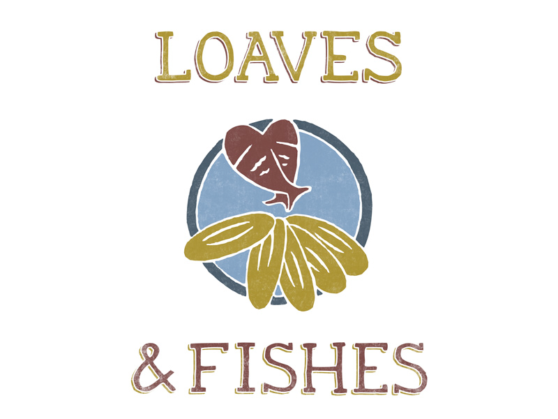 Loaves fishes logo design an in depth case study for Loaves and fishes